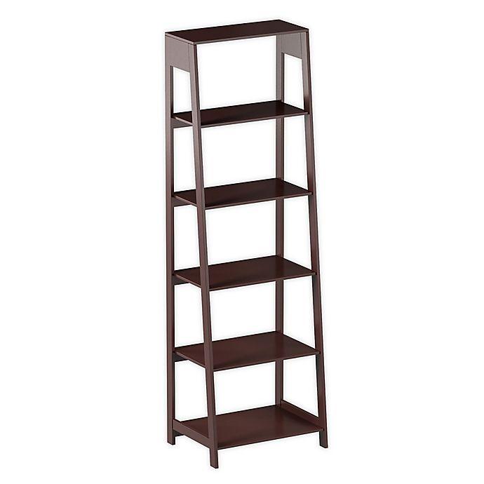 Hastings Home 5 Tier Freestanding Bookcase In Dark Brown Bed Bath Beyond