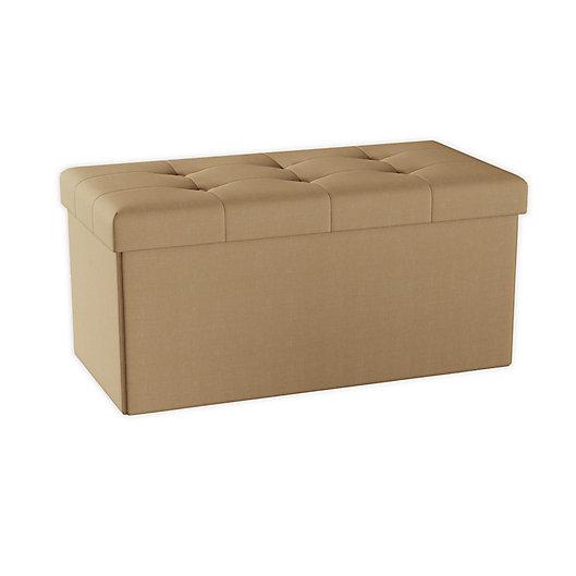 Alternate image 1 for Lavish Home Folding Storage Bench Ottoman