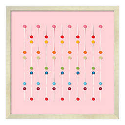 PTM Images® Rows of Dots 18-Inch x 18-Inch Framed Wall Art in Pink