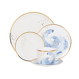 Olivia & Oliver™ Harper Splatter Gold Dinnerware Collection in Blue