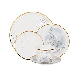 Olivia & Oliver™ Harper Splatter Gold Dinnerware Collection in Grey