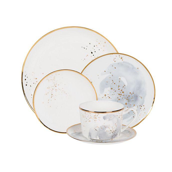 Alternate image 1 for Olivia & Oliver™ Harper Splatter Gold Dinnerware Collection in Grey