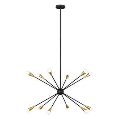 Hampton Hill MPS150 0067 Presidio 5 Modern Chandeliers Metal, Fabric Shade Pendant Ligthing Lamp Ceiling Dining Lighting Fixtures Hanging, 24