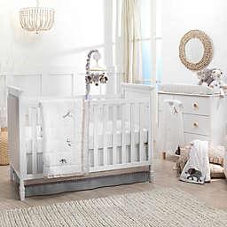 Lambs & Ivy® Linen Safari 4-Piece Crib Bedding Set in White