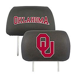 University of Oklahoma Headrest Covers (Set of 2)