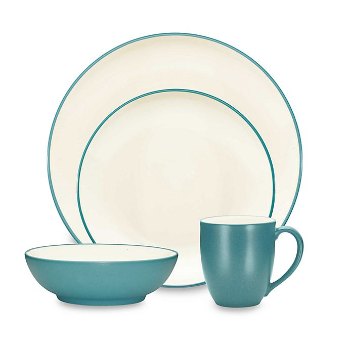 Alternate image 1 for Noritake® Colorwave Coupe Dinnerware Collection in Turquoise