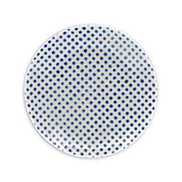 Noritake® Blue Hammock Dots Coupe Appetizer Plate