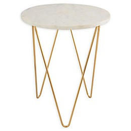 O&O by Olivia & Oliver™ Round Marble/Steel Side Table