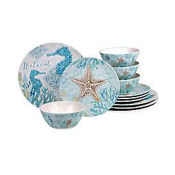 Certified International Beachcomber 12-Piece Dinnerware Set