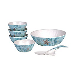 Certified International Beachcomber 7-Piece Salad Set