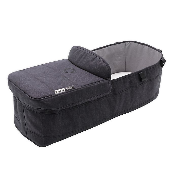 Alternate image 1 for Bugaboo™ Donkey3 Twin Bassinet Fabric Complete in Washed Black