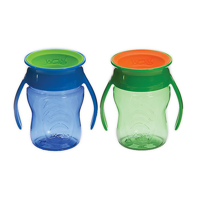 Alternate image 1 for Wow Cup® for Baby 2-Pack 7 oz. Tritan™ Plastic Sippy Cup