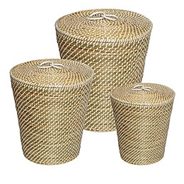 Honey-Can-Do Nesting Snake Charmer's Baskets in Seagrass (Set of 3)