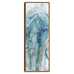 Masterpiece Art Gallery Abstract Lapis I Framed Canvas Wall Art