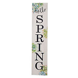"""""""Hello Spring"""" 42-Inch Wooden Porch Sign"""