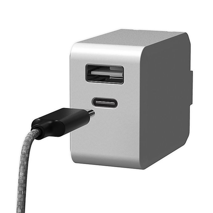 Alternate image 1 for Sharper Image® Fast-Charging Portable Adapter with Lightning Charging Cable