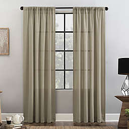 Clean Window® Waffle Texture 96-Inch Curtain in Linen (Single)