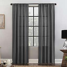 Clean Window® Waffle Texture Cotton Blend Semi-Sheer Rod Pocket Curtain