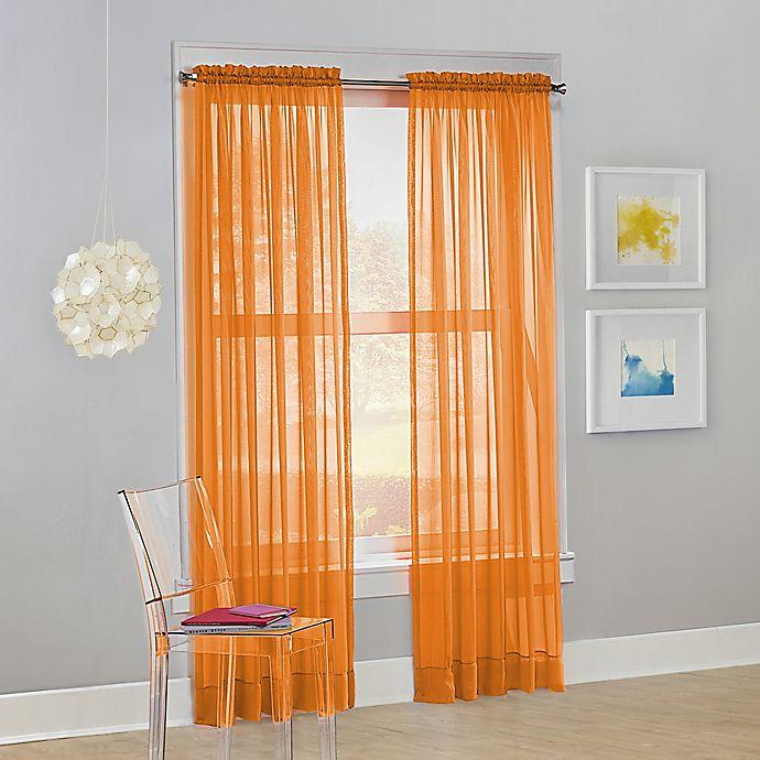 Alternate image 1 for No. 918 Calypso Sheer Voile Rod Pocket Window Curtain Panel (Single)