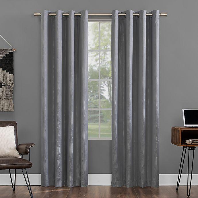 Alternate image 1 for Sun Zero® Beck 84-Inch Grommet Curtain in Navy (Single)