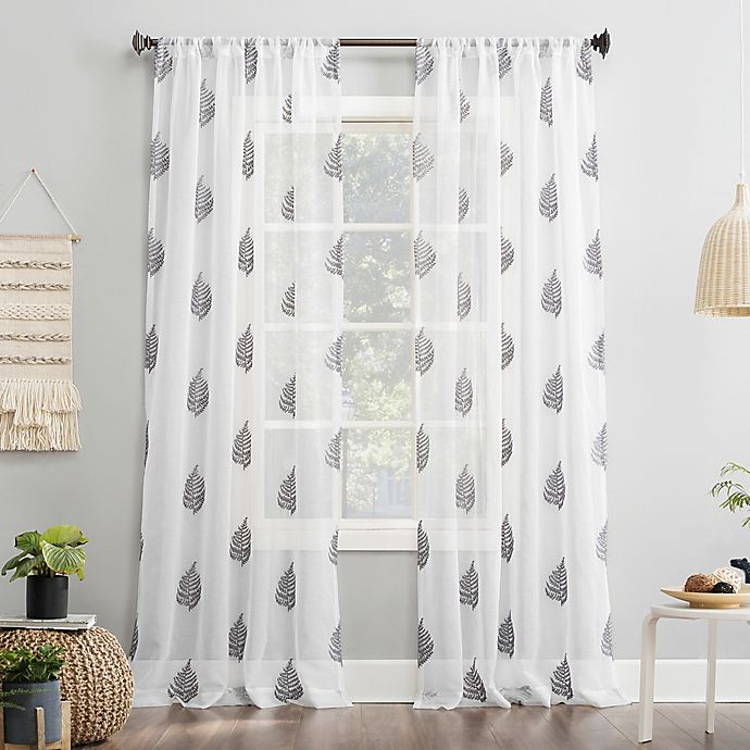 Alternate image 1 for No.918® Fern 63-Inch  Curtain in White