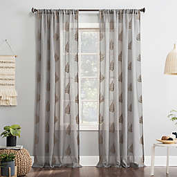 No.918® Fern 84-Inch  Curtain in White