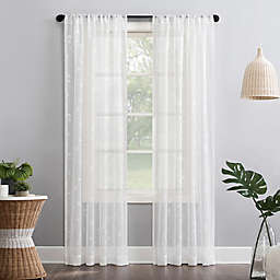 No.918® Delia Embroidered Floral Sheer Rod Pocket Curtain Panel (Single)