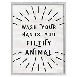 Wash Your Hands Filthy Animal Wall Art Collection