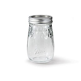 Ball® Glass 16 oz. Flute Jar in Clear (Set of 4)