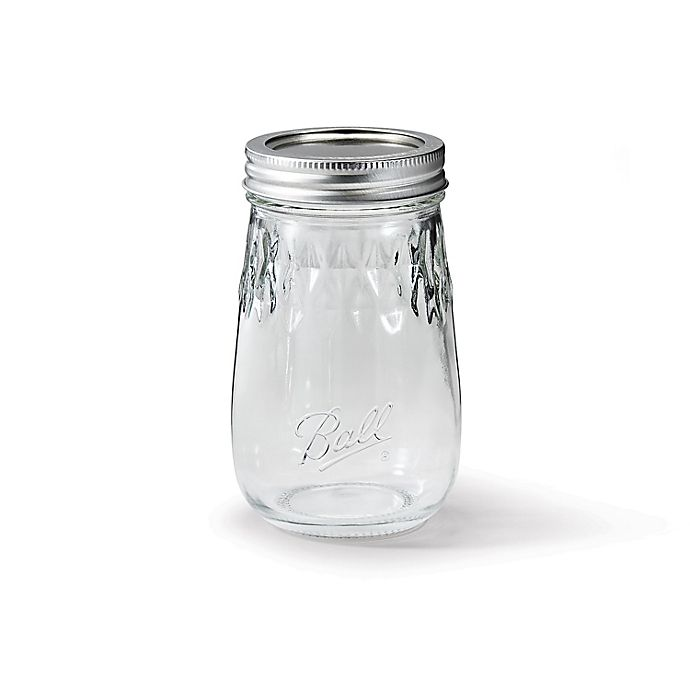 Alternate image 1 for Ball® Glass 16 oz. Flute Jar in Clear (Set of 4)