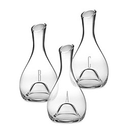 Susquehanna Glass Monogrammed Block Letter Punted Carafe