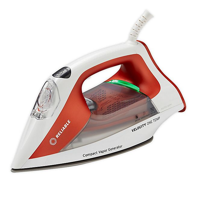 Alternate image 1 for Reliable® Velocity 160IR One-Temp Steam Iron in White/Red