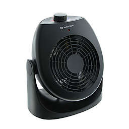 Comfort Zone® Portable Dual Space Heater & Fan in Black