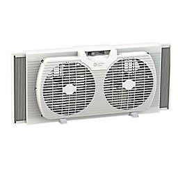 Comfort Zone® 2-Speed Portable Twin Window Fan in White