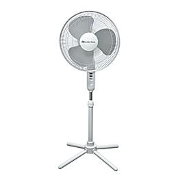 Comfort Zone® CZST161BTEBK 17-Inch 3-Speed Oscillating Pedestal Fan