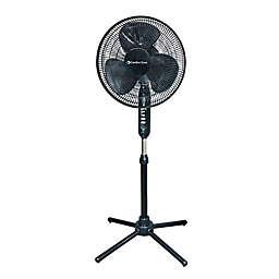 Comfort Zone® CZST161BTEBK 16-Inch 3-Speed Oscillating Pedestal Fan