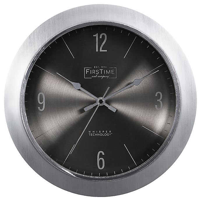 Alternate image 1 for FirsTime & Co.® Steel Core 11-Inch Wall Clock in Silver