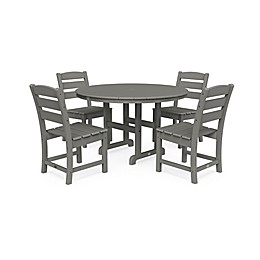 POLYWOOD® Lakeside 5-Piece Dining Set in Slate Grey