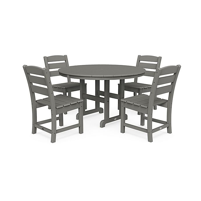 Polywood Lakeside 5 Piece Dining Set In Slate Grey Bed Bath Beyond