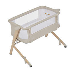 Evolur Stellar Bedside Bassinet in Biege