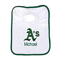 Designs by Chad and Jake MLB Oakland Athletics Personalized Pullover Bib in White