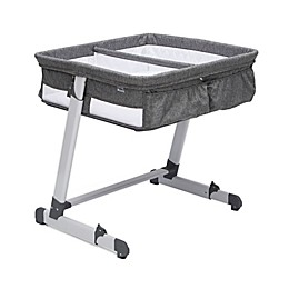 By the Bed Twin City Sleeper Bassinet in Grey