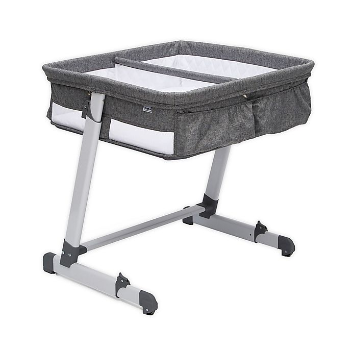 Alternate image 1 for Delta Children By the Bed Twin City Sleeper Bassinet in Grey