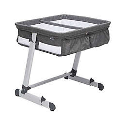 Delta Children By the Bed Twin City Sleeper Bassinet in Grey