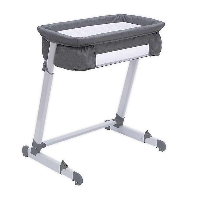 Alternate image 1 for Delta Children By the Bed Deluxe Sleeper Bassinet in Grey