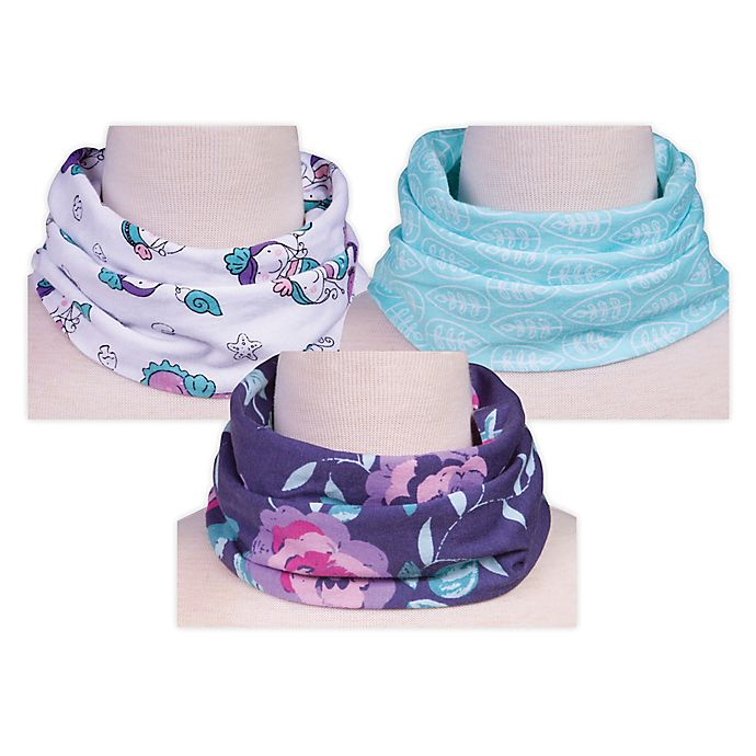 Alternate image 1 for Trend Lab® 3-Pack Mermaids Infinity Scarf Bibs