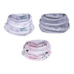 Trend Lab® 3-Pack Owls and Flowers Infinity Scarf Bibs