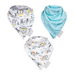 Trend Lab® 3-Pack Baby Safari Bandana Bibs