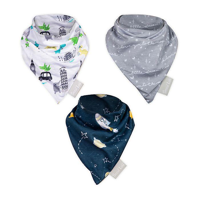 Alternate image 1 for Trend Lab® 3-Pack Baby Traveler Bandana Bibs