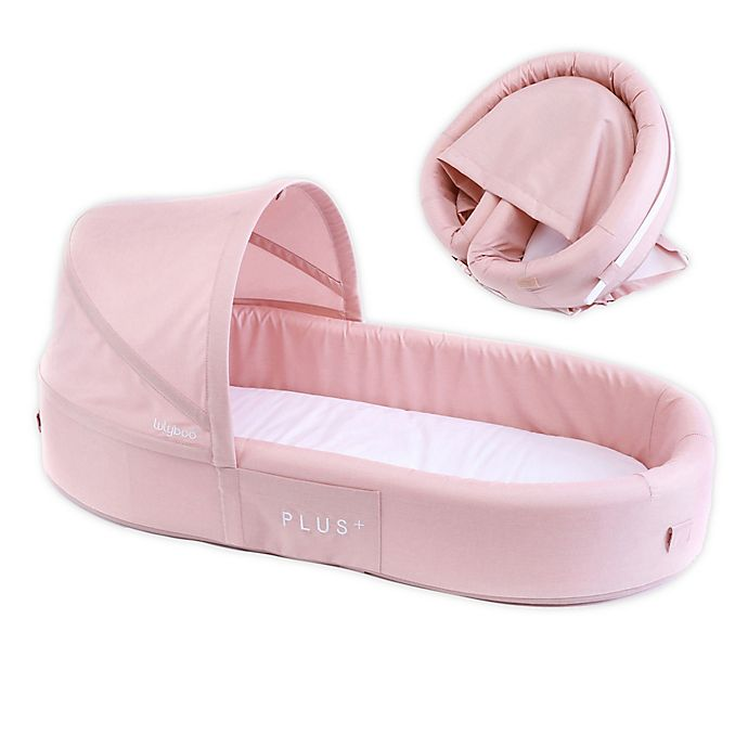 Alternate image 1 for LuLyBoo® Bassinet Plus Baby Travel Bed in Blush